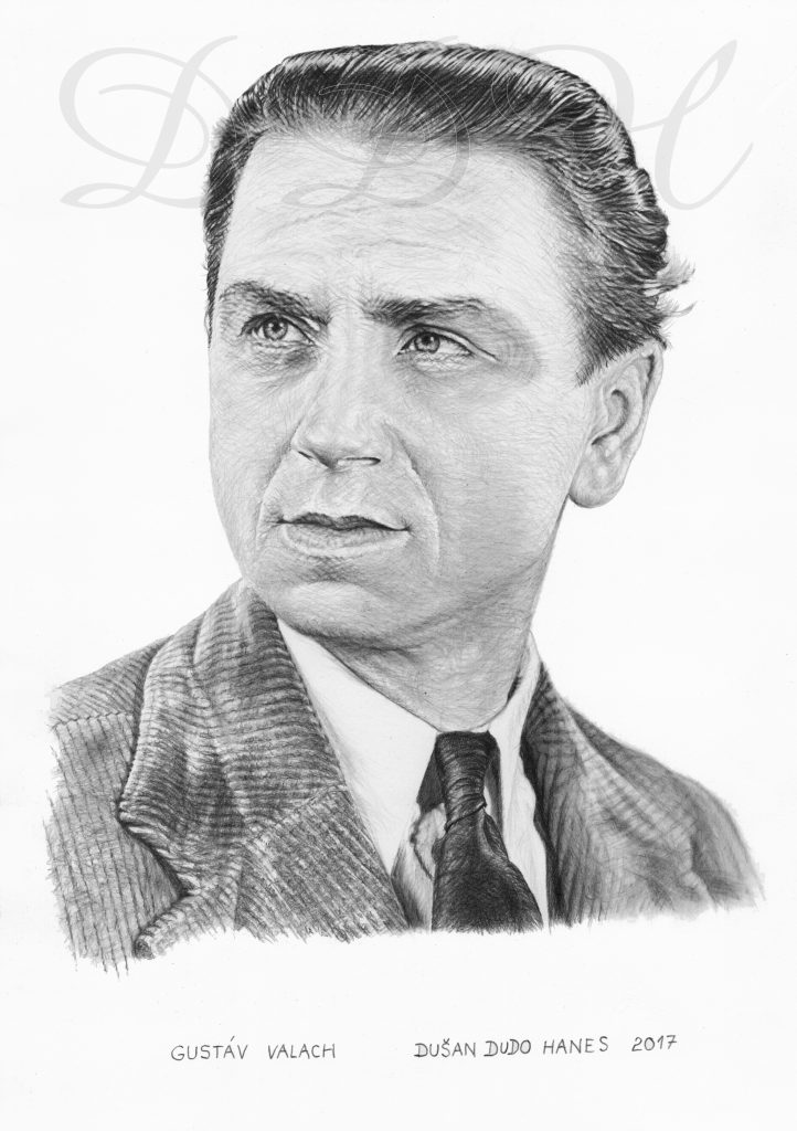 105 - Gustáv Valach, portrét Dušan Dudo Hanes