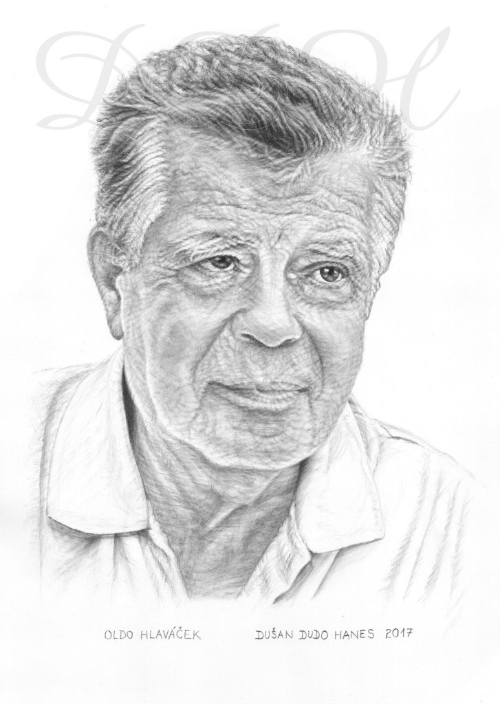 108 - Oldo Hlaváček, portrét Dušan Dudo Hanes