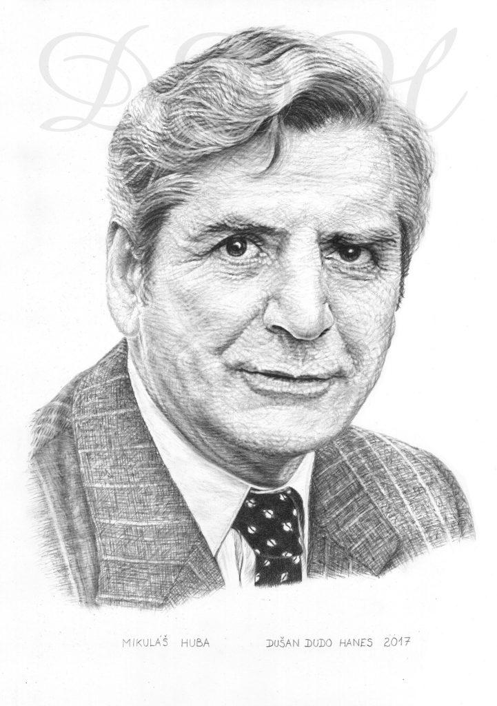 109 - Mikuláš Huba, portrét Dušan Dudo Hanes