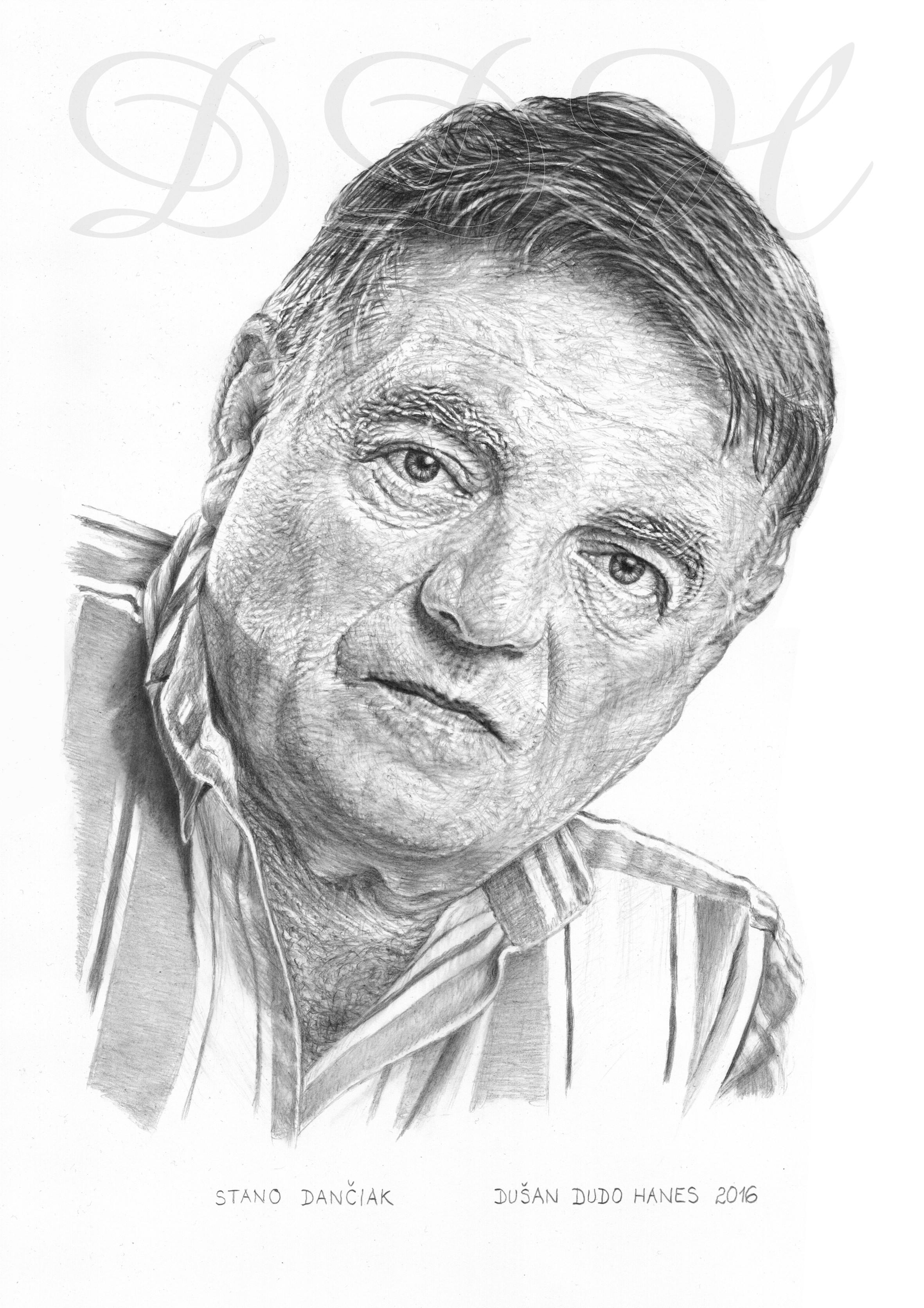110 - Stano Dančiak, portrét Dušan Dudo Hanes