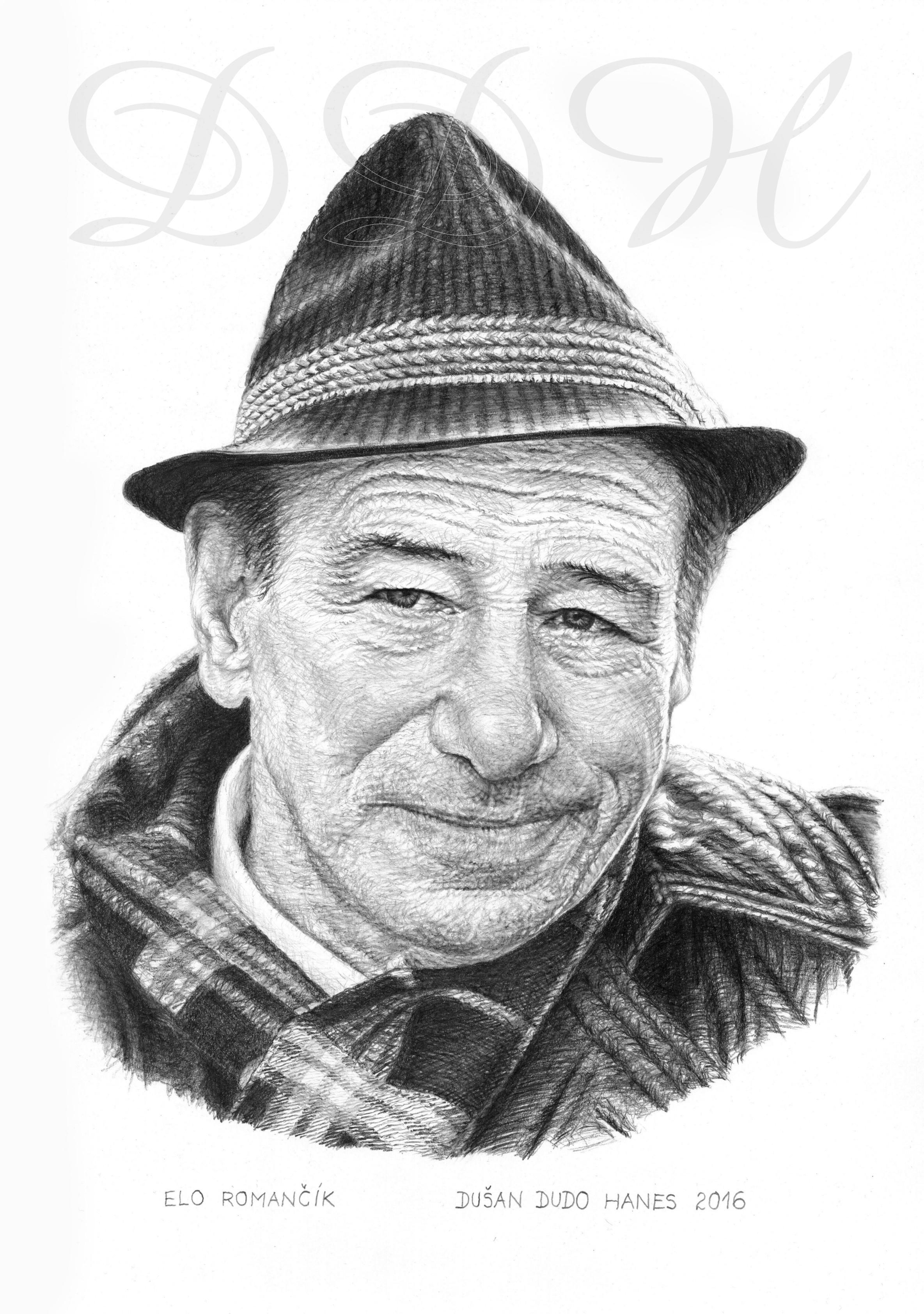 113 - Elo Romančík, portrét Dušan Dudo Hanes