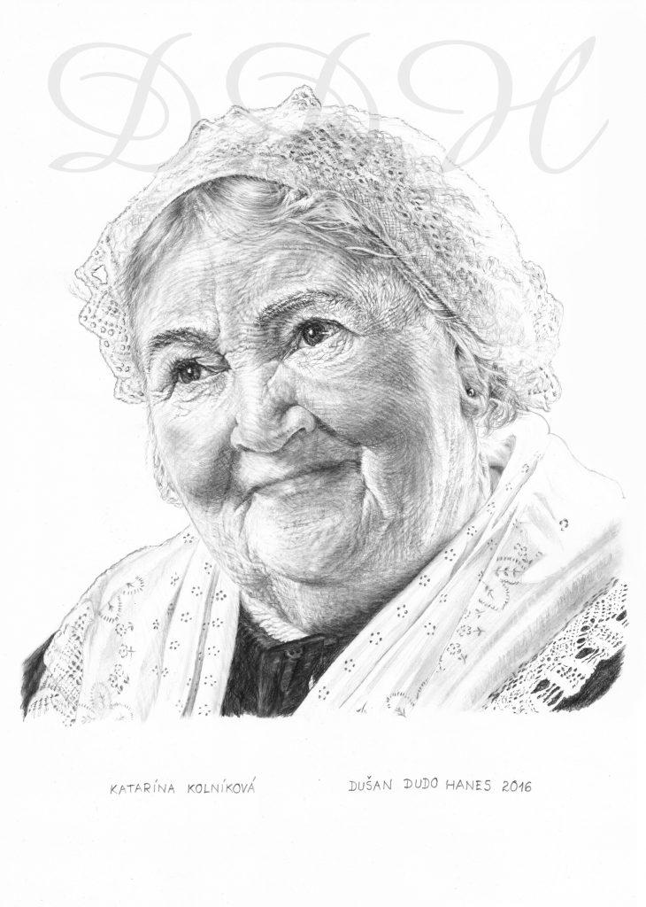 118 - Katarína Kolníková, portrét Dušan Dudo Hanes