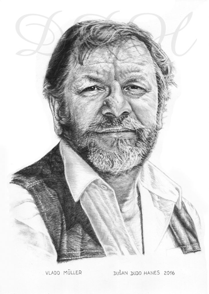 121 - Vlado Müller, portrét Dušan Dudo Hanes