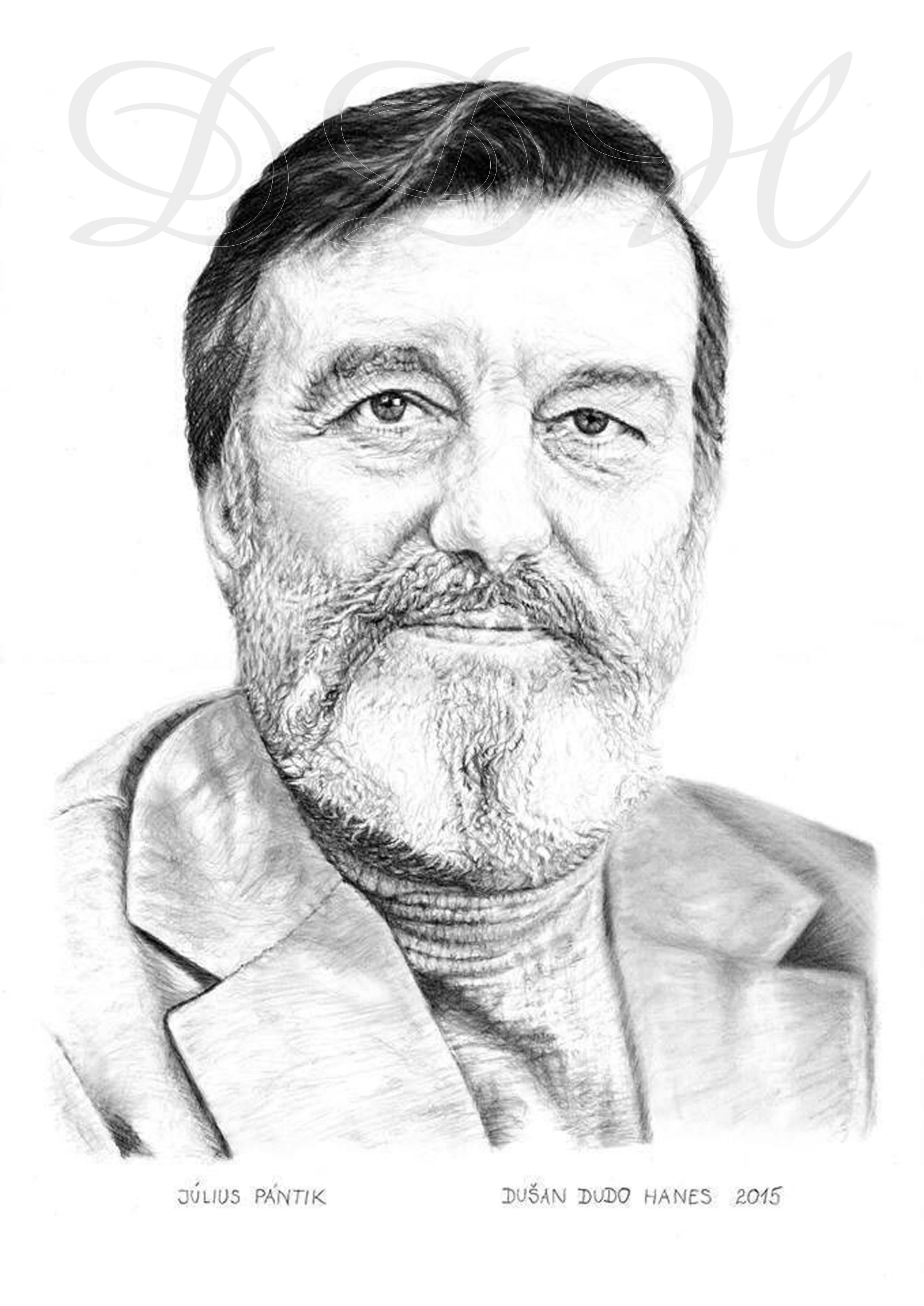 126 - Július Pántik, portrét Dušan Dudo Hanes
