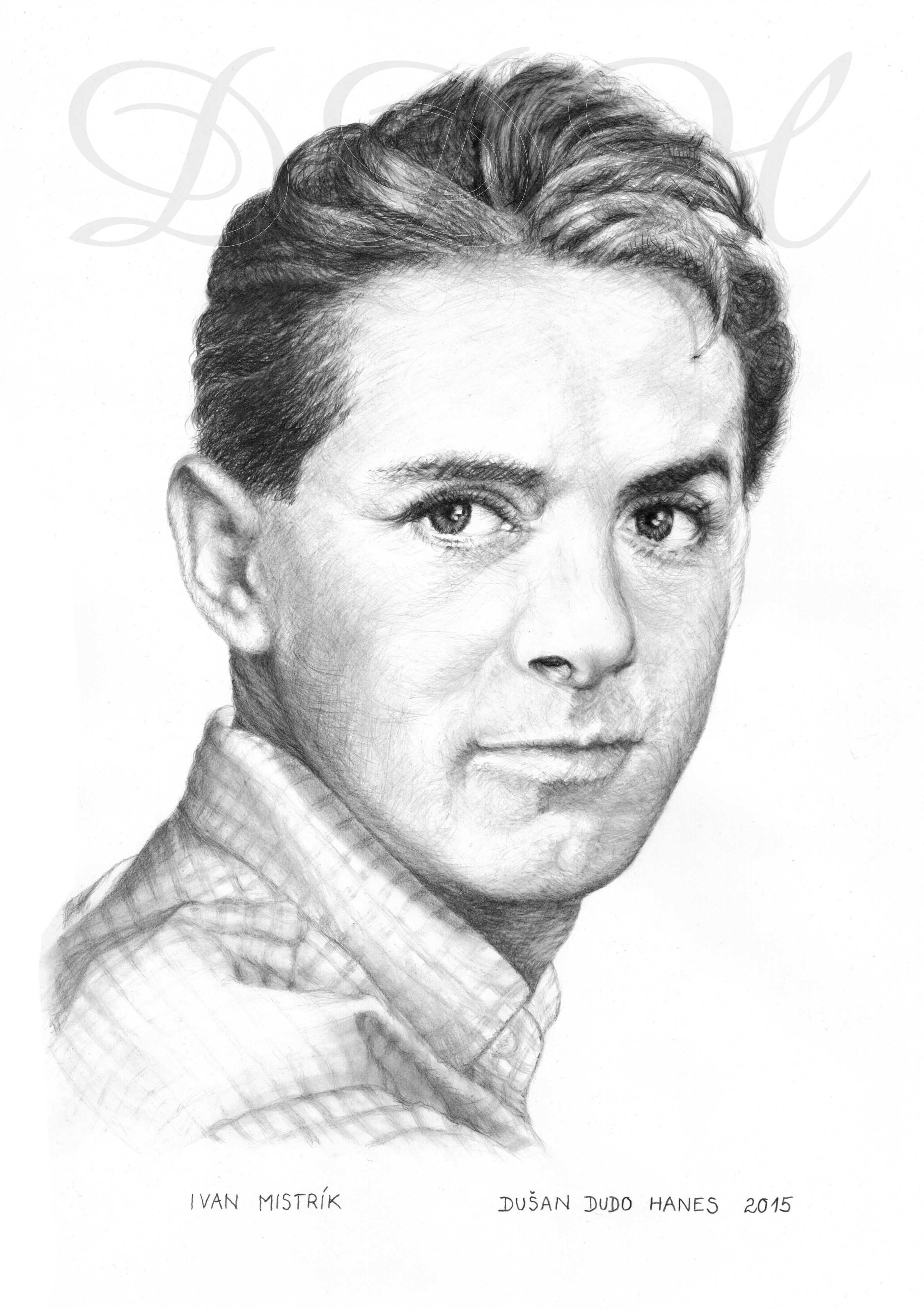 127 - Ivan Mistrík, portrét Dušan Dudo Hanes