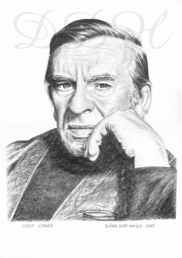 130 - Jozef Kroner, portrét Dušan Dudo Hanes