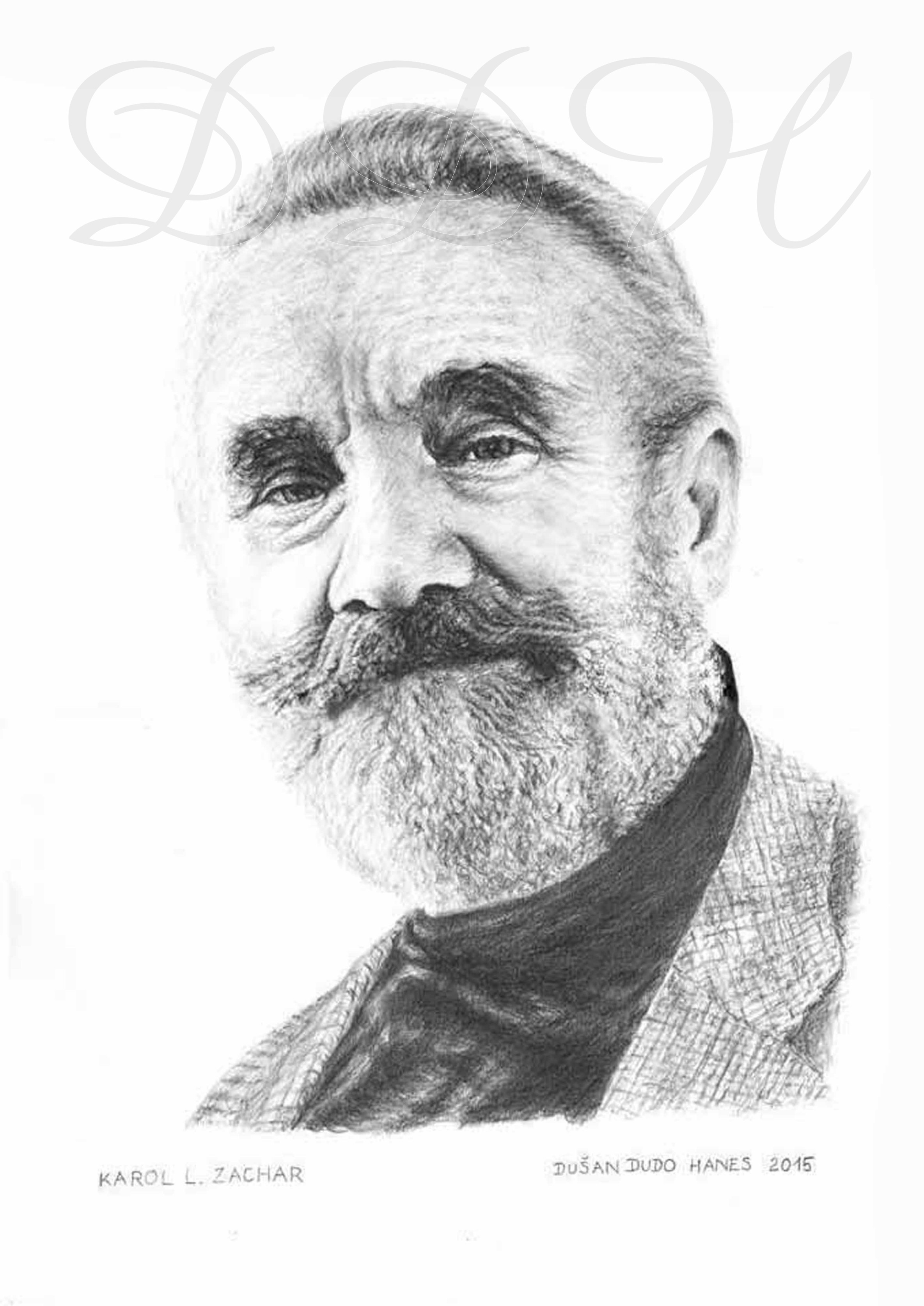 133 - Karol L. Zachar, portrét Dušan Dudo Hanes