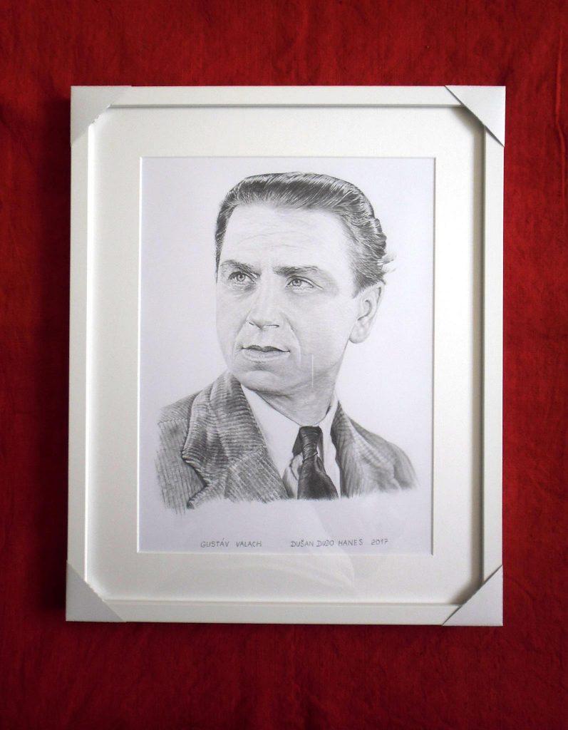 202 - Gustáv Valach. Portrét v ráme, Dušan Dudo Hanes