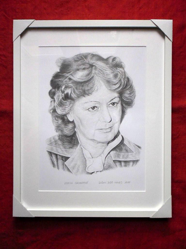 204 - Zdena Gruberová. Portrét v ráme, Dušan Dudo Hanes