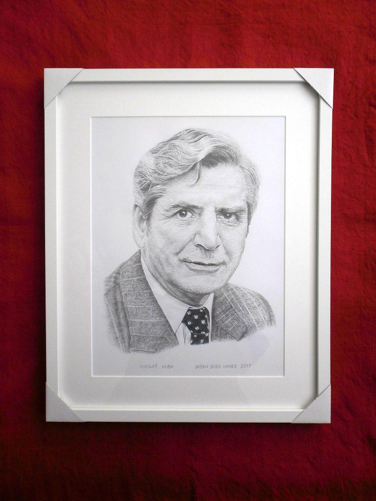 206 - Mikuláš Huba. Portrét v ráme, Dušan Dudo Hanes
