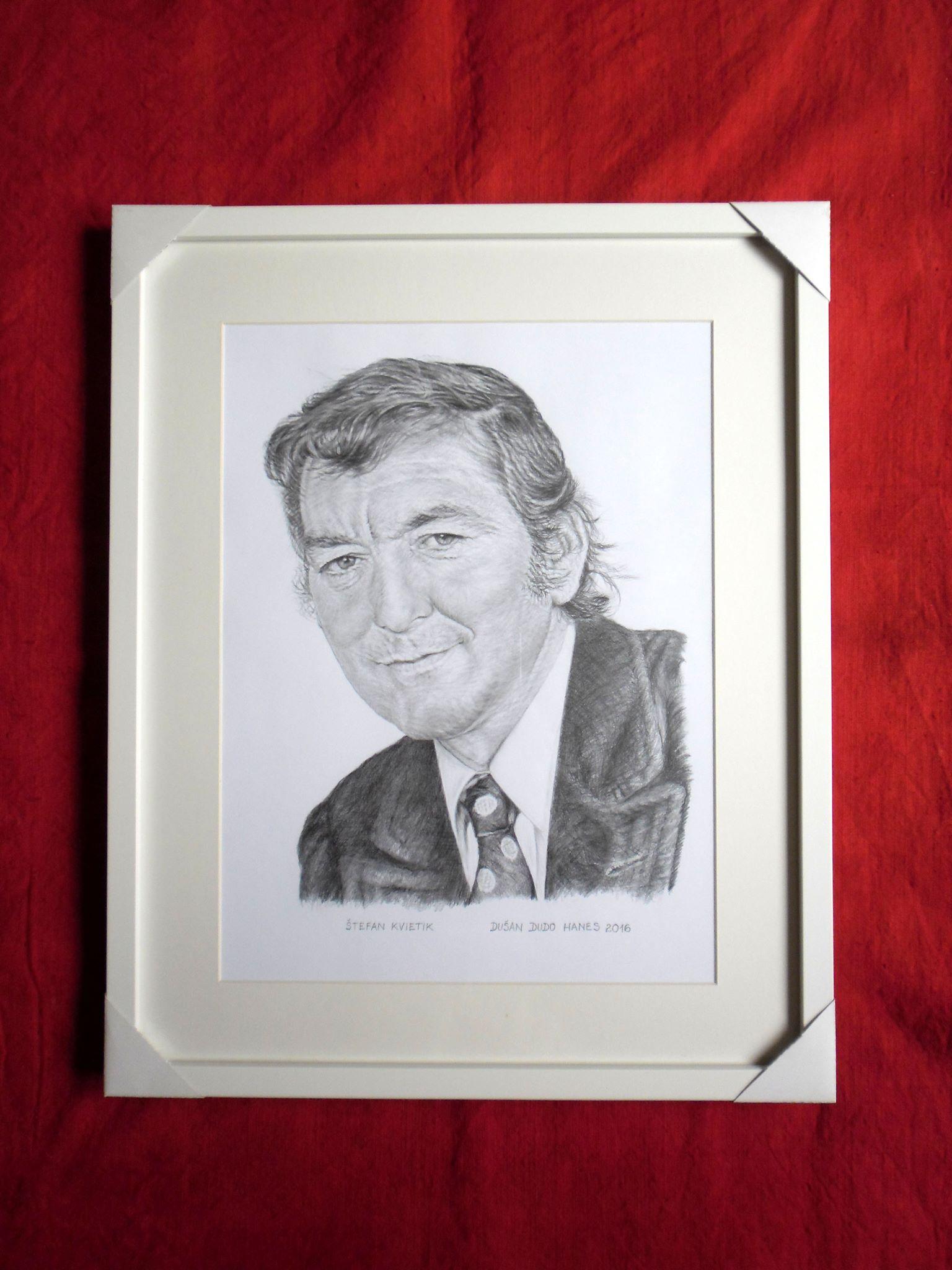 215 - Štefan Kvietik. Portrét v ráme, Dušan Dudo Hanes