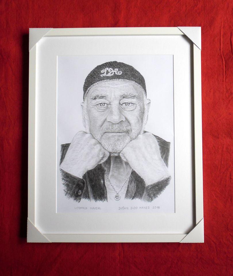 218 - Leopold Haverl. Portrét v ráme, Dušan Dudo Hanes