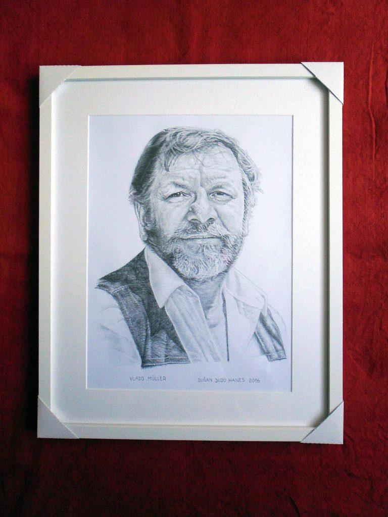 222 - Vlado Müller. Portrét v ráme, Dušan Dudo Hanes