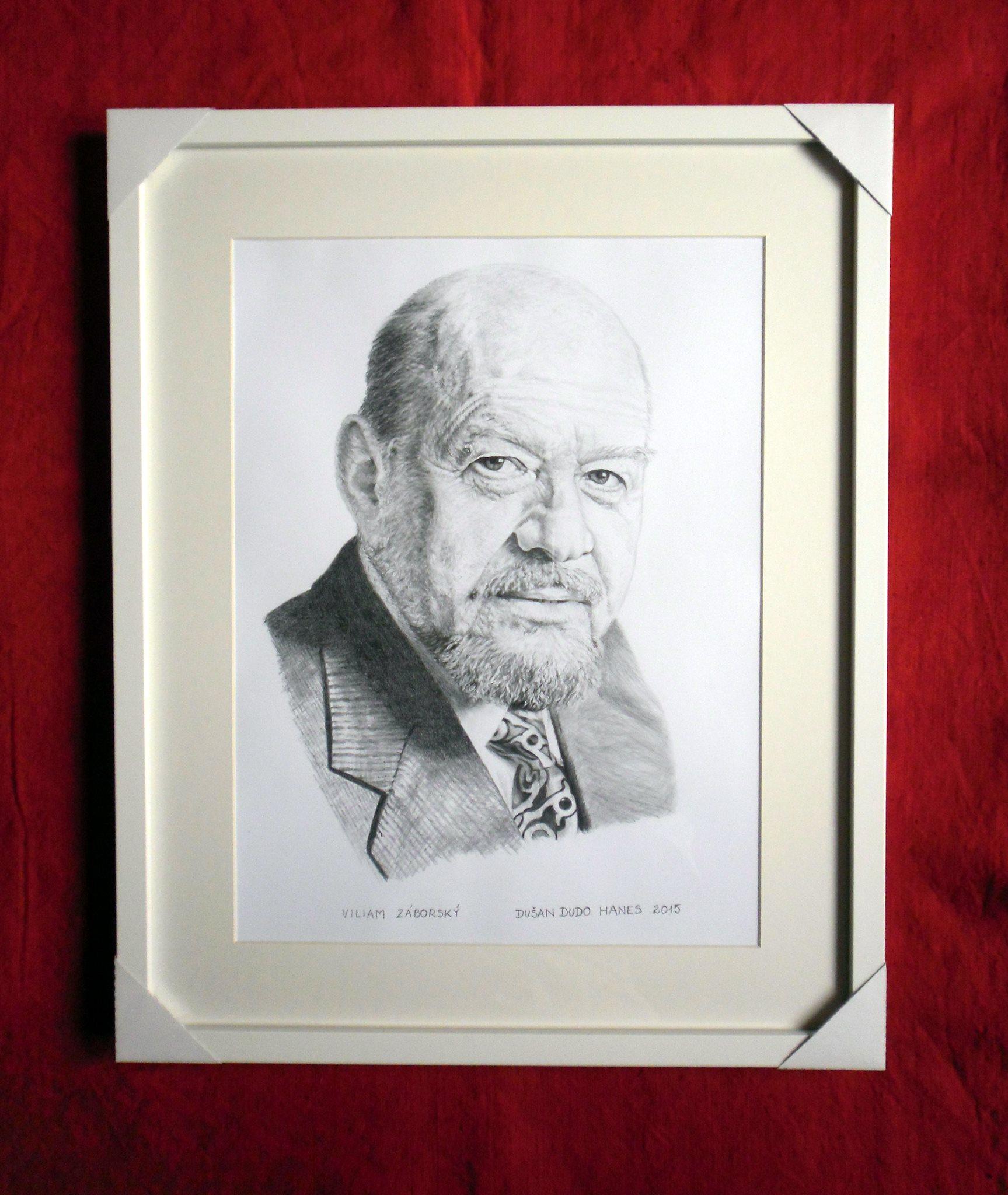 225 - Viliam Záborský. Portrét v ráme, Dušan Dudo Hanes
