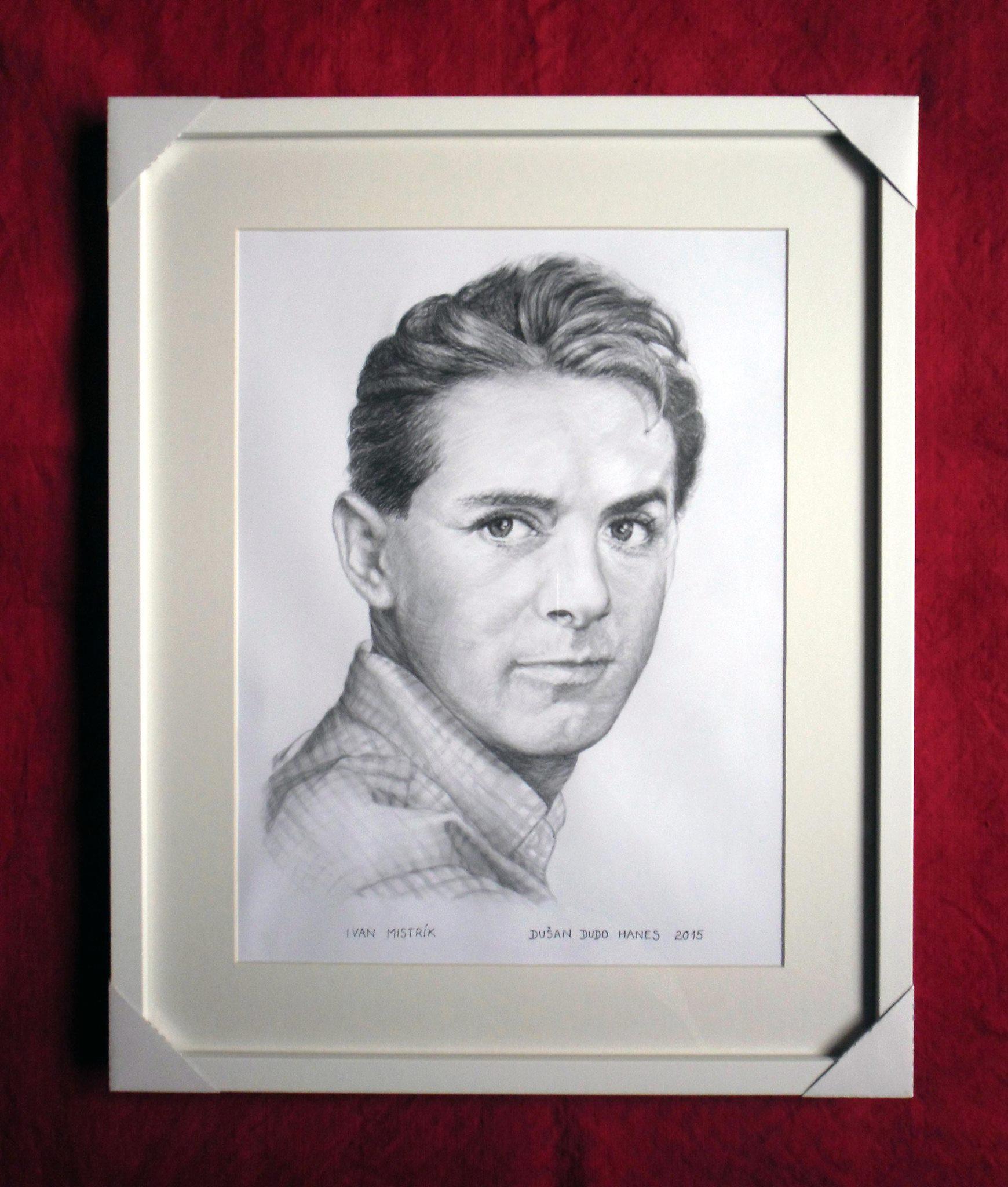 228 - Ivan Mistrík. Portrét v ráme, Dušan Dudo Hanes