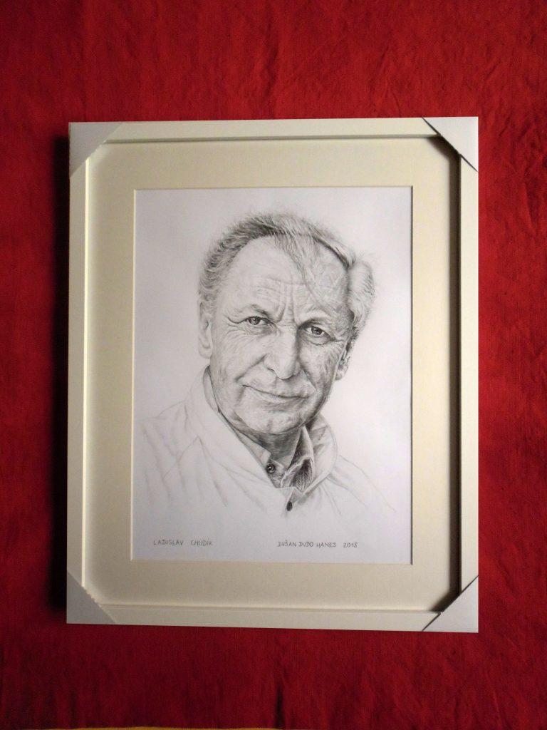 229A - Ladislav Chudík. Portrét v ráme, Dušan Dudo Hanes