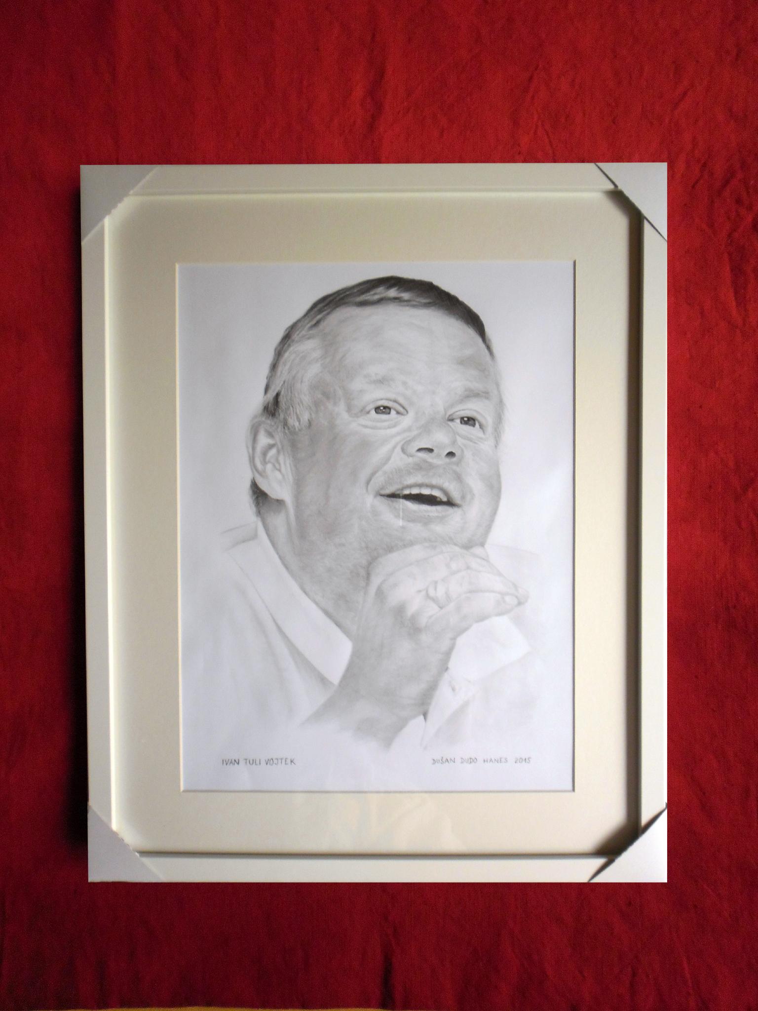 234 - Ivan Tuli Vojtek. Portrét v ráme, Dušan Dudo Hanes
