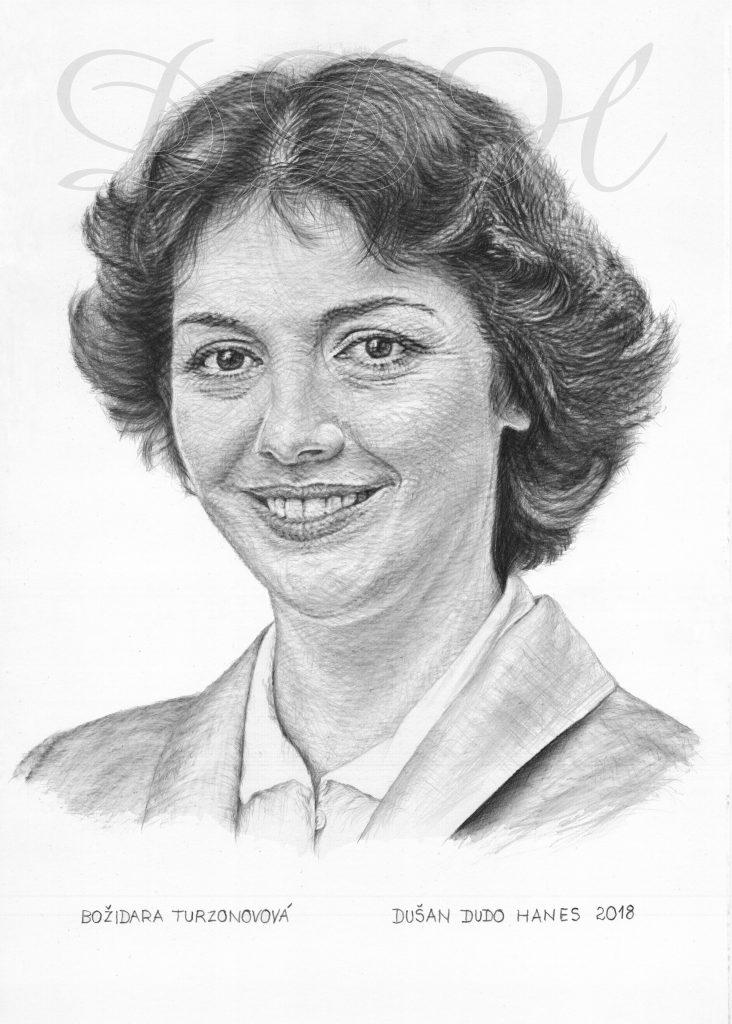 101 - Božidara Turzonovová, portrét Dušan Dudo Hanes
