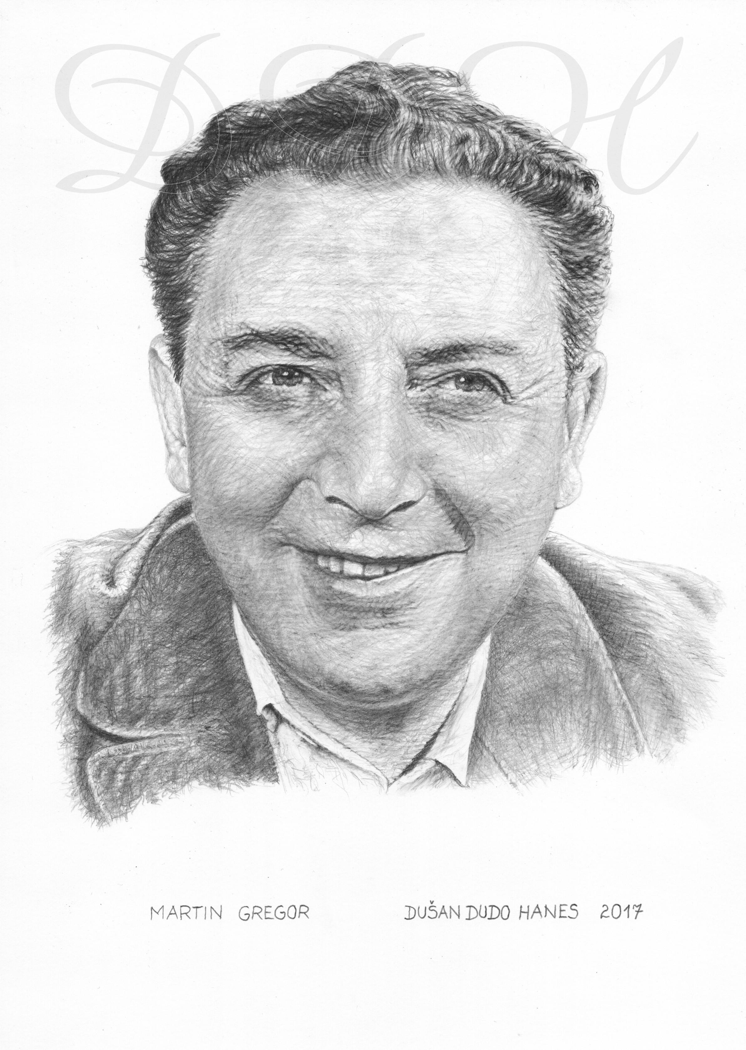 104_Martin Gregor, portrét Dušan Dudo Hanes