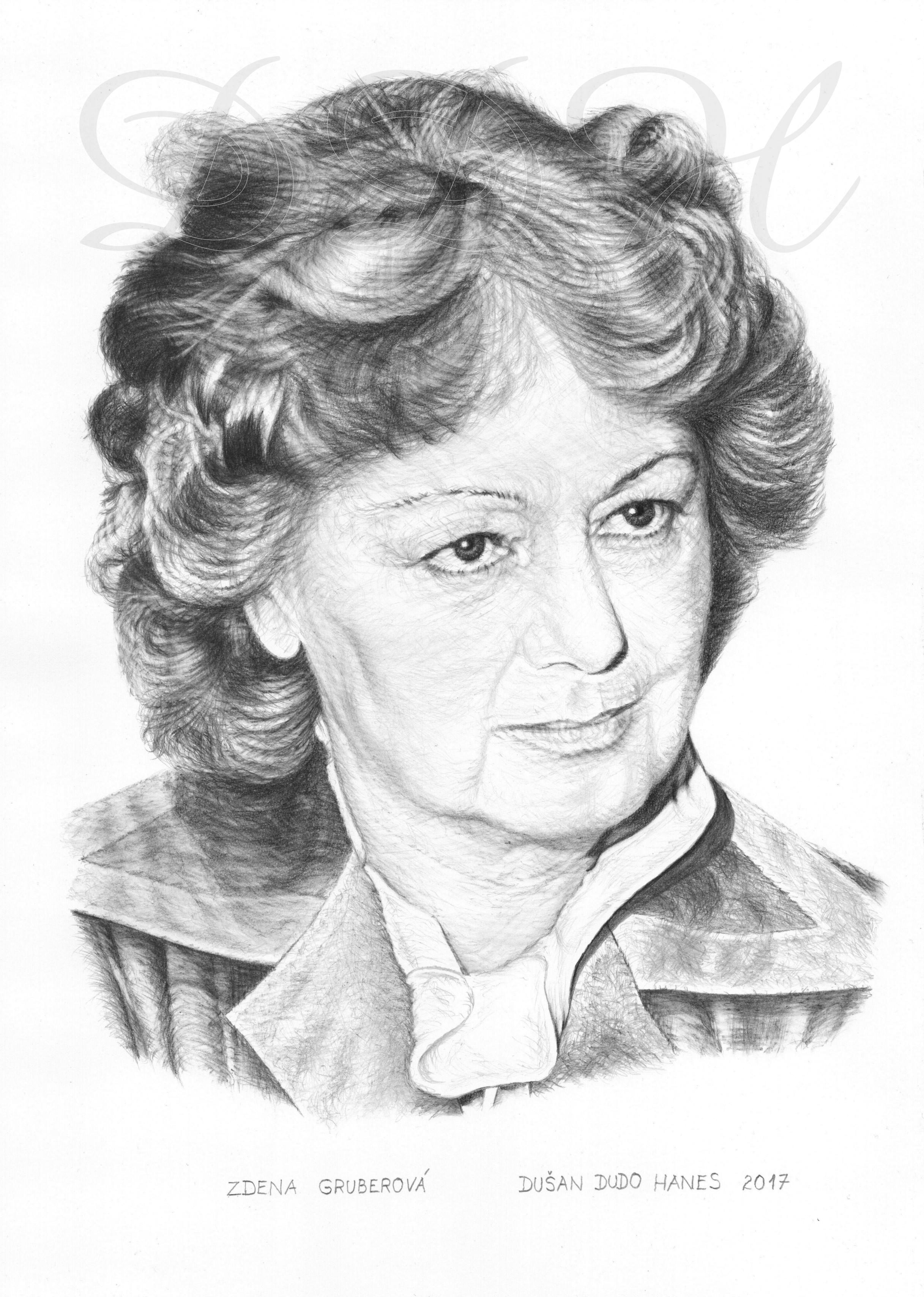 107 - Zdena Gruberová, portrét Dušan Dudo Hanes