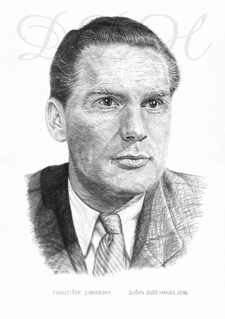 111 - František Dibarbora, portrét Dušan Dudo Hanes