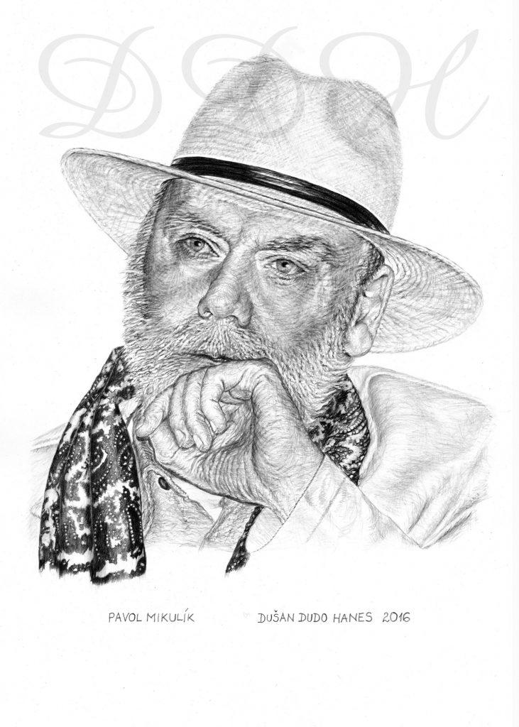 114 -Pavol Mikulík, portrét Dušan Dudo Hanes