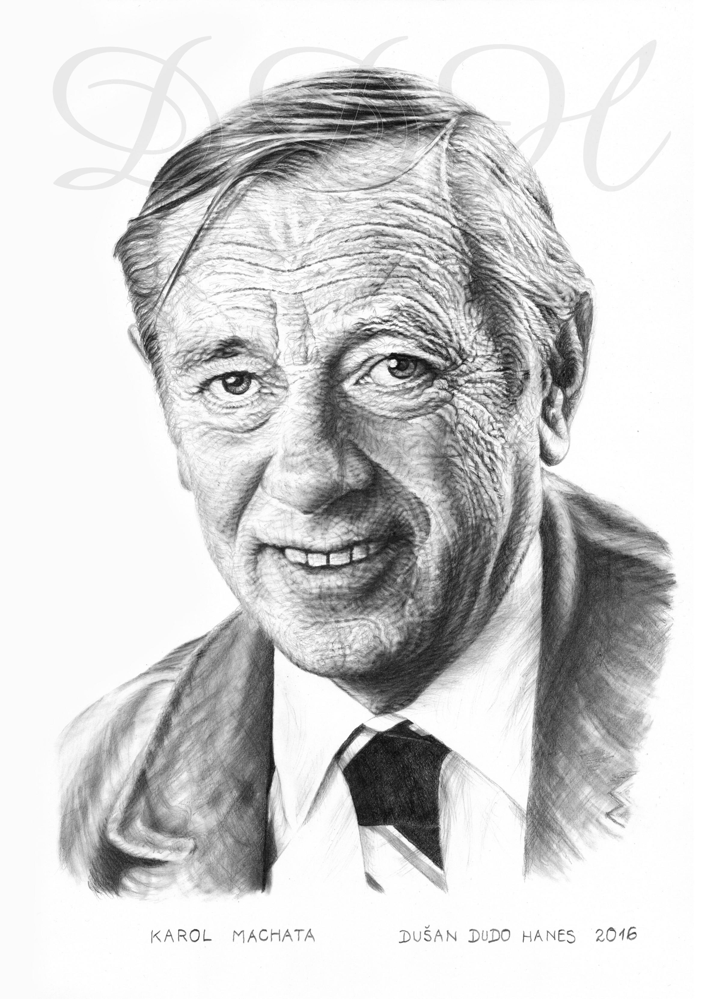 116 - Karol Machata, portrét Dušan Dudo Hanes