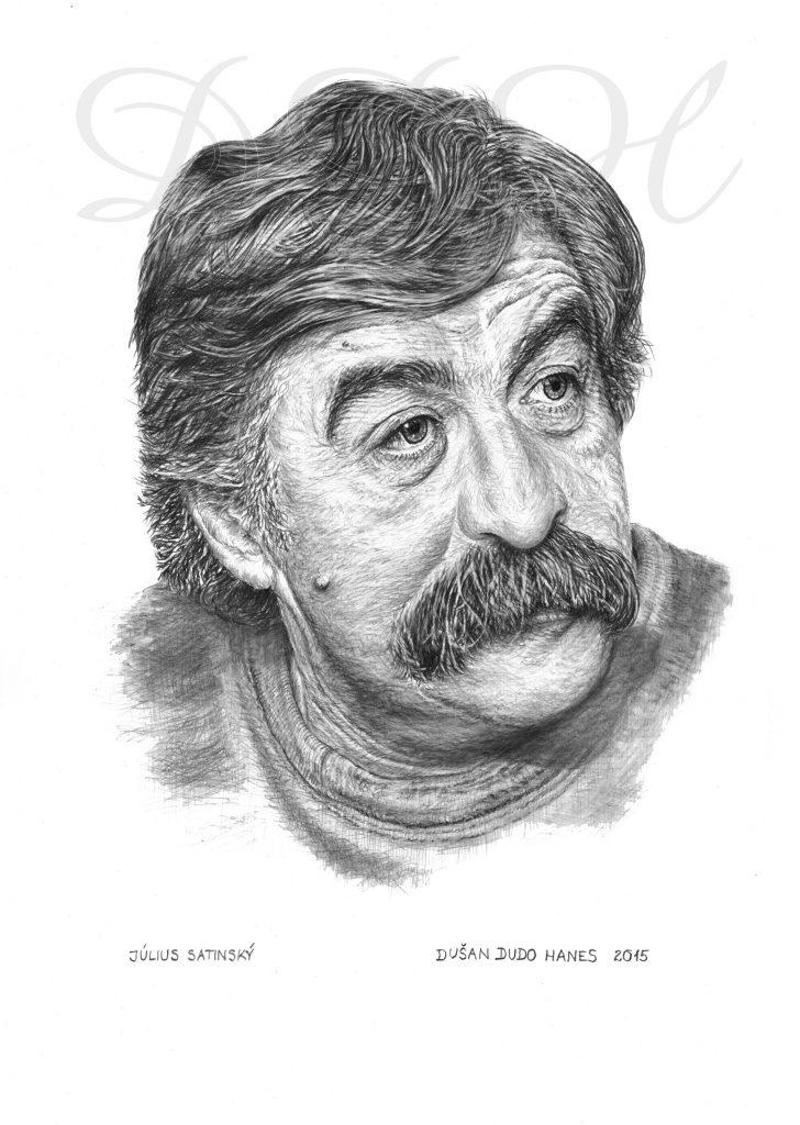 123 - Július Satinský, portrét Dušan Dudo Hanes
