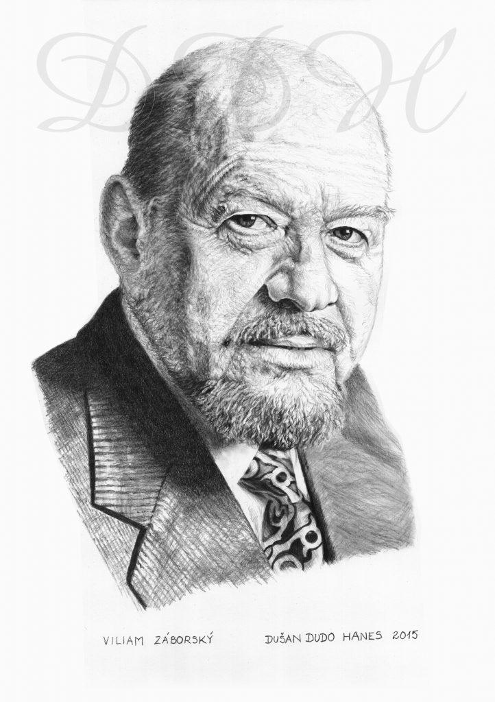 124 - Viliam Záborský, portrét Dušan Dudo Hanes