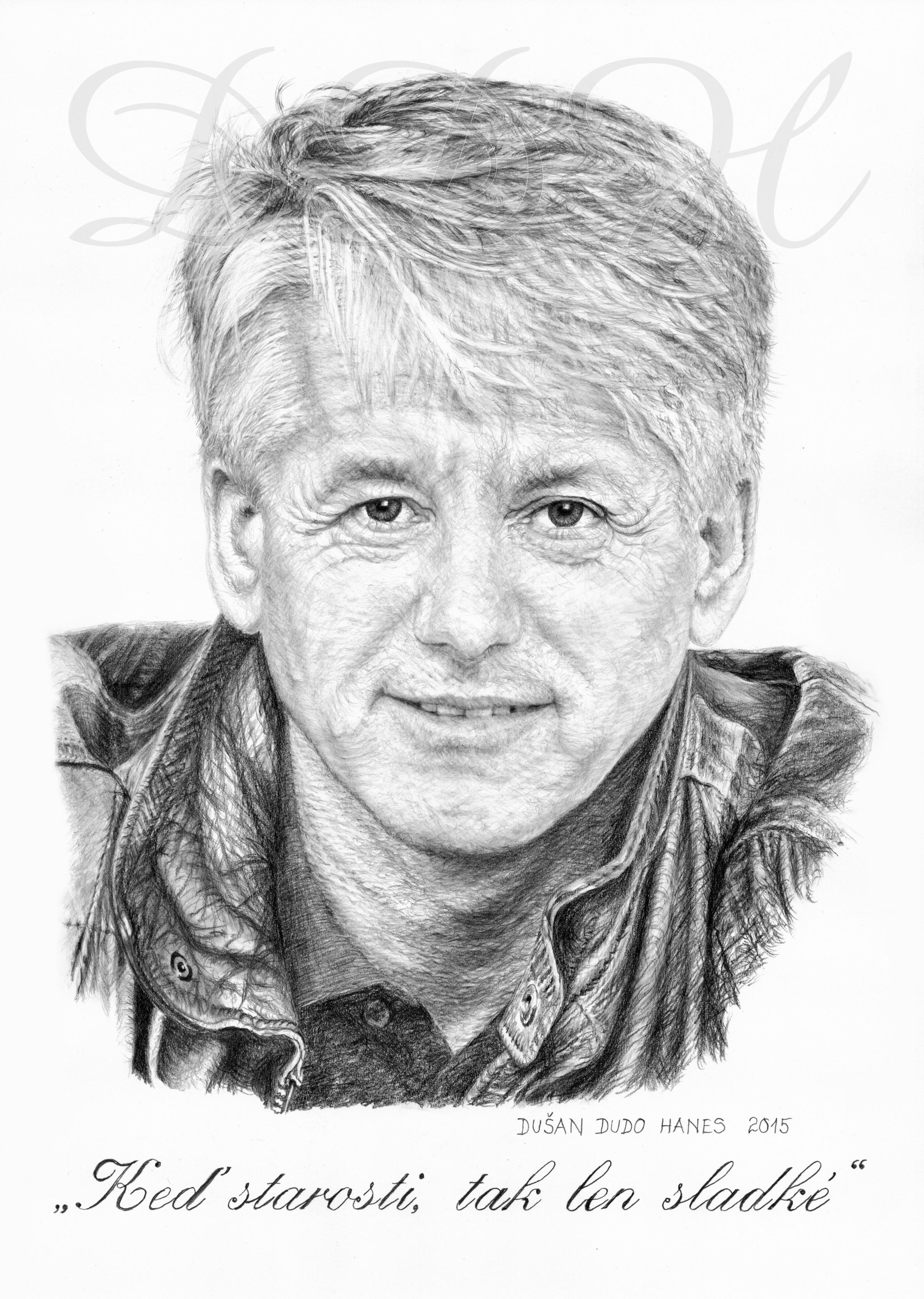 125 - Emil Horváth ml., portrét Dušan Dudo Hanes