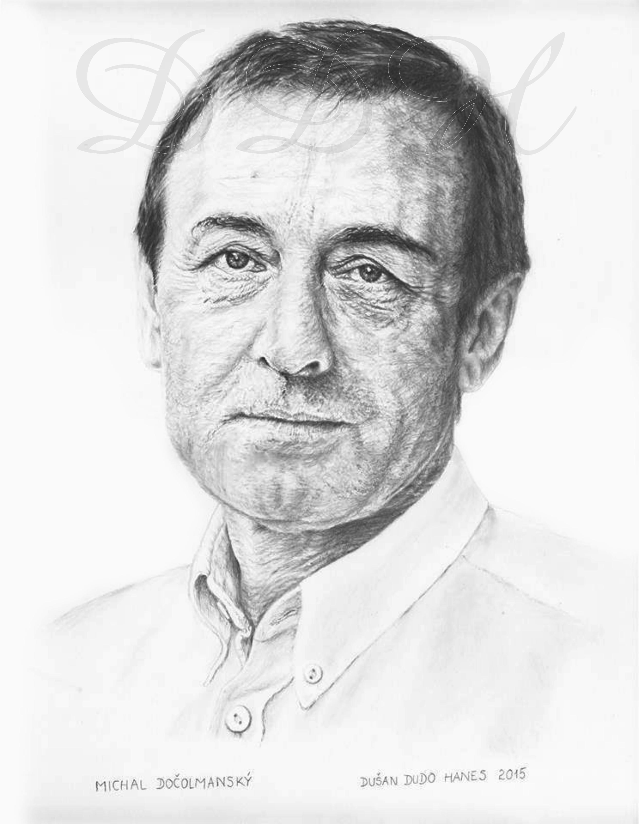 128 - Michal Dočolmanský, portrét Dušan Dudo Hanes
