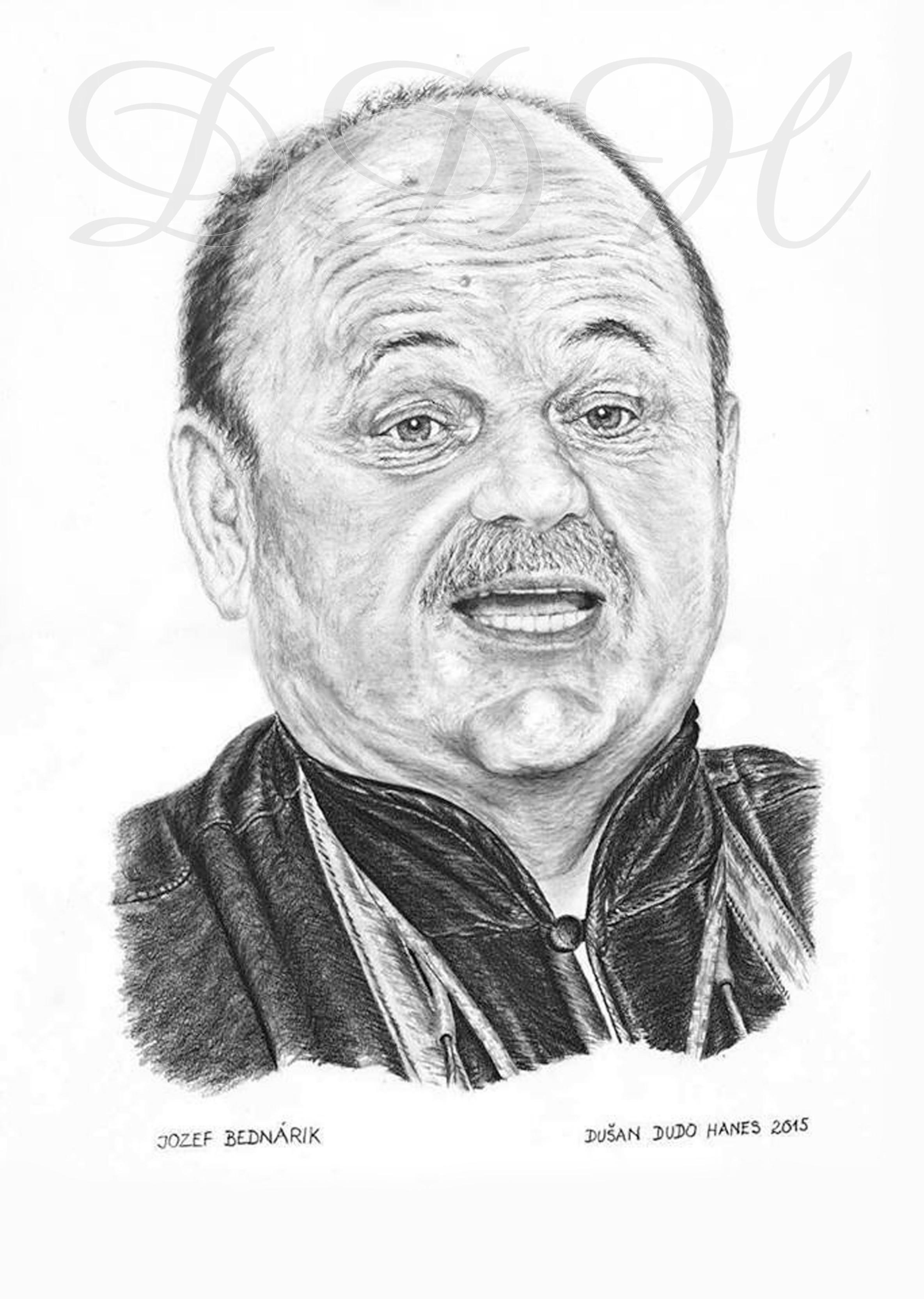 132 - Jozef Bednárik, portrét Dušan Dudo Hanes