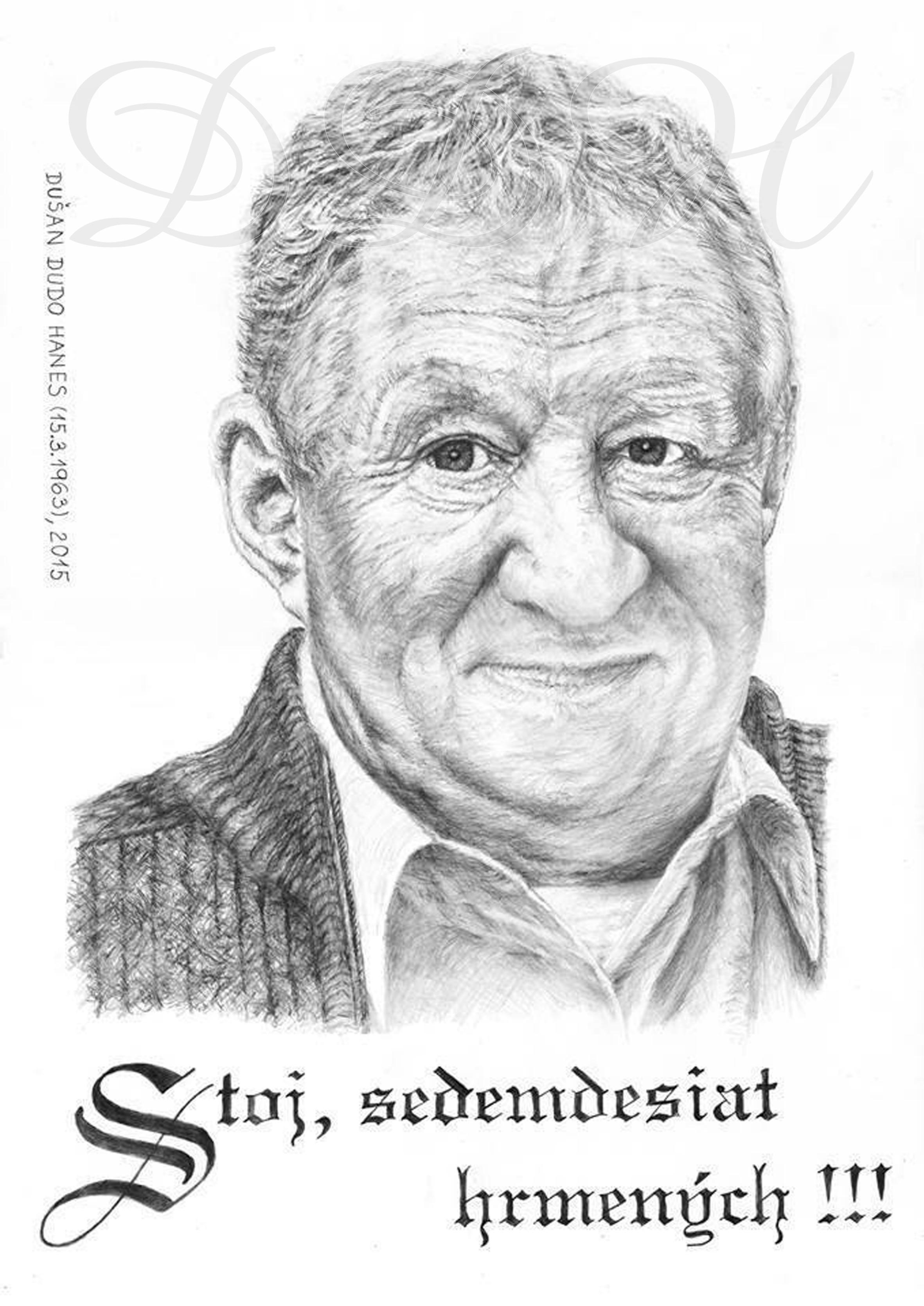 134 - Karol Čálik, portrét Dušan Dudo Hanes - dar k významnému životnému jubileu
