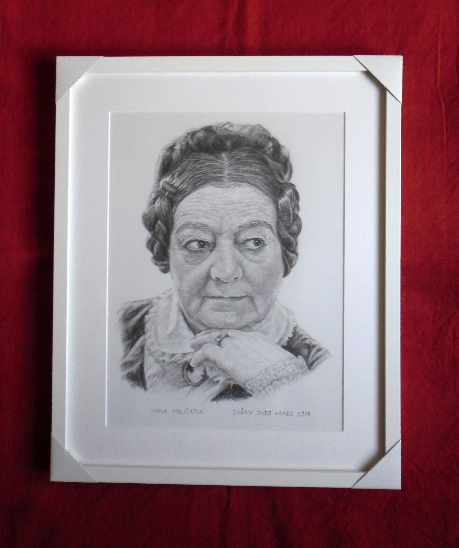 188 - Hana Meličková. Portrét v ráme, Dušan Dudo Hanes