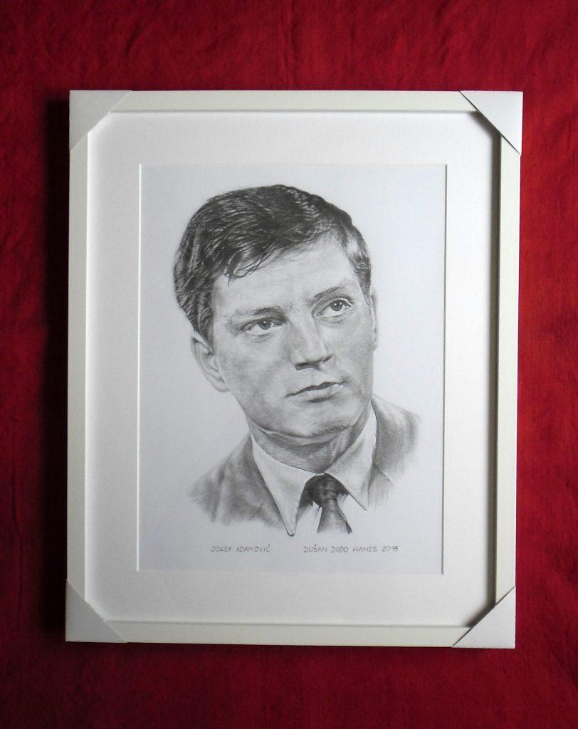 191 - Jozef Adamovič. Portrét v ráme, Dušan Dudo Hanes