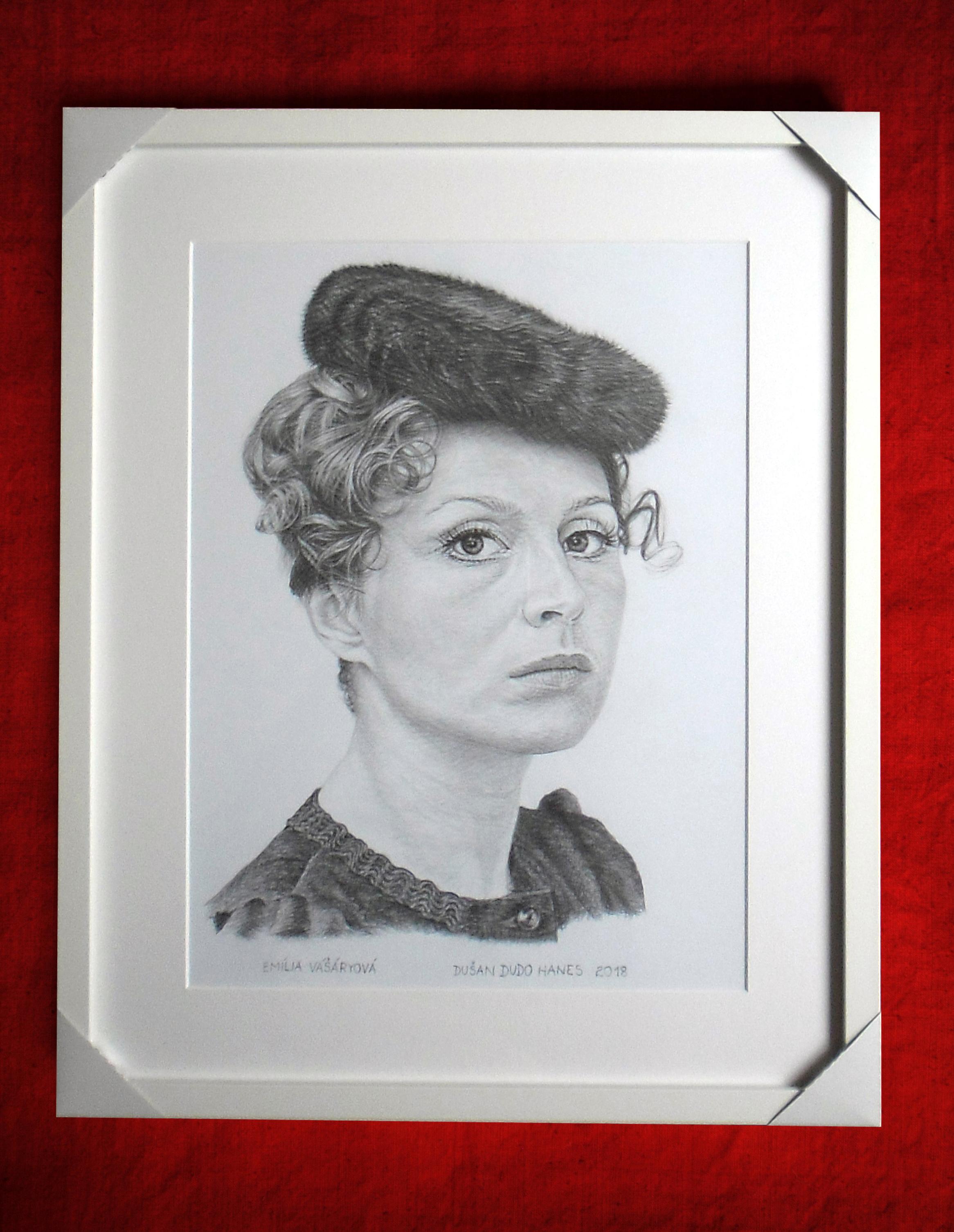 194 - Emília Vášáryová. Portrét v ráme, Dušan Dudo Hanes