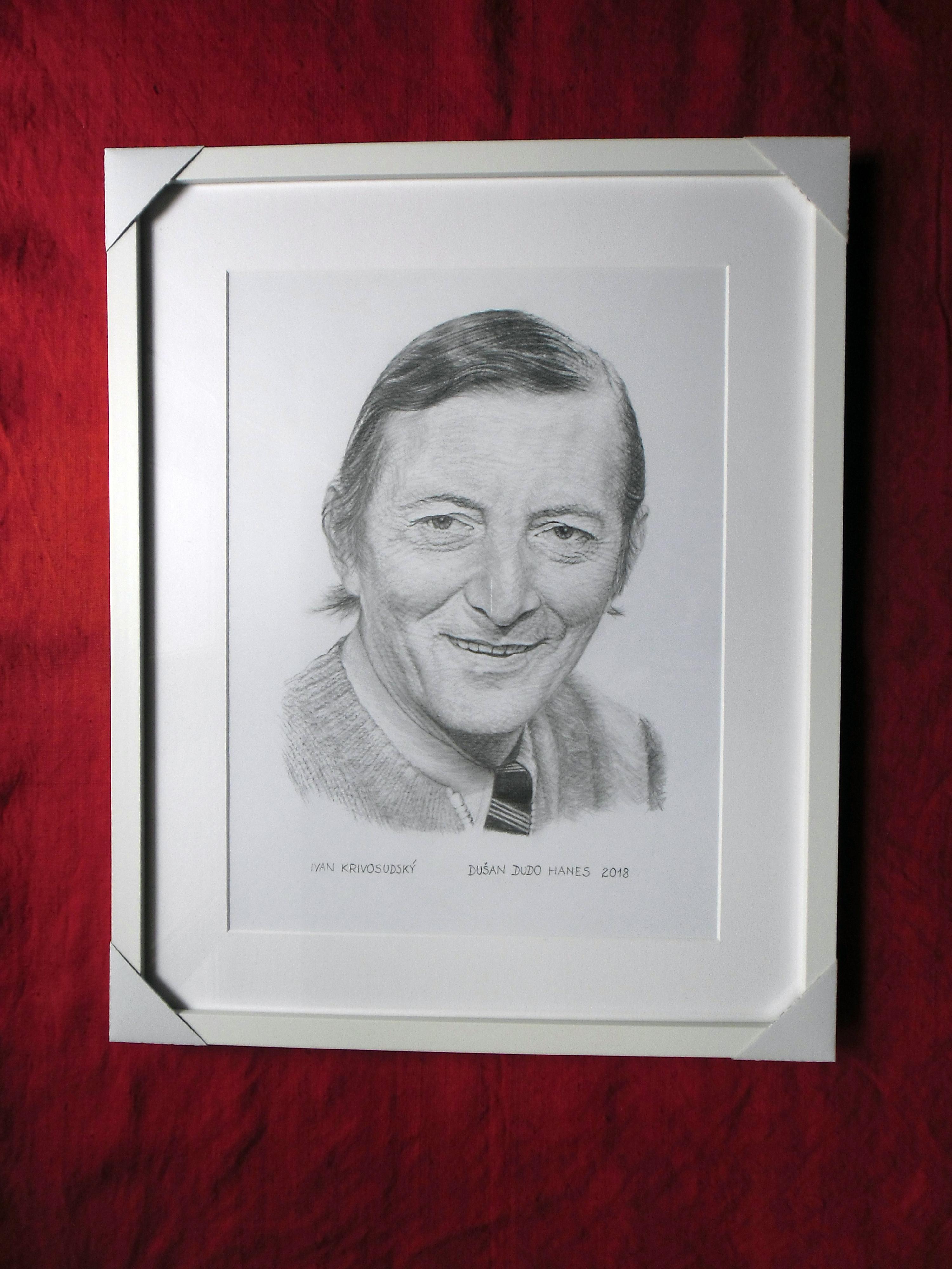 195 - Ivan Krivosudský. Portrét v ráme, Dušan Dudo Hanes