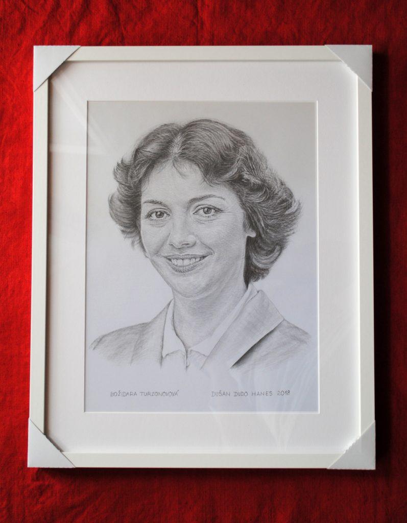 197 - Božidara Turzonovová. Portrét v ráme, Dušan Dudo Hanes
