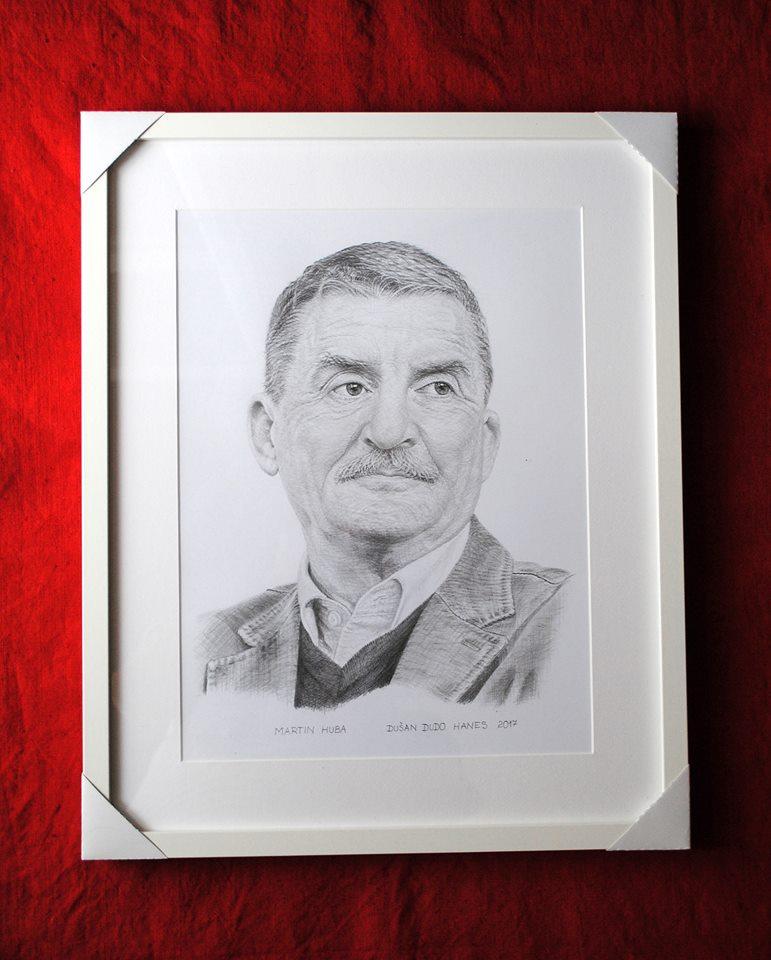 198 - Martin Huba. Portrét v ráme, Dušan Dudo Hanes