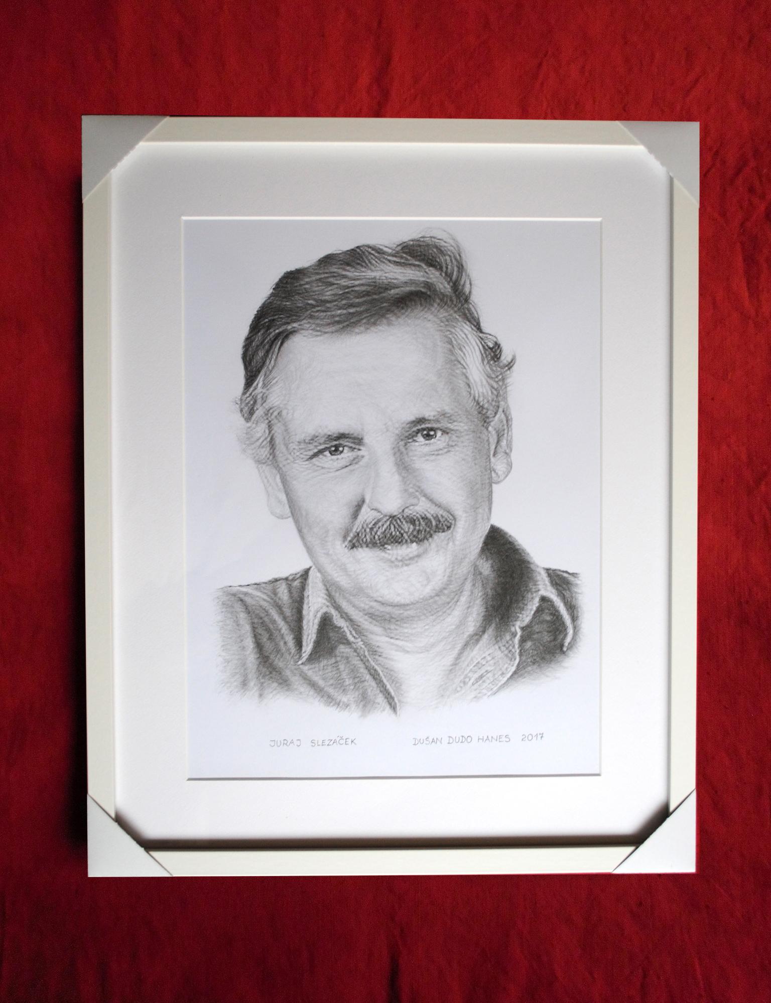199 - Juraj Slezáček. Portrét v ráme, Dušan Dudo Hanes