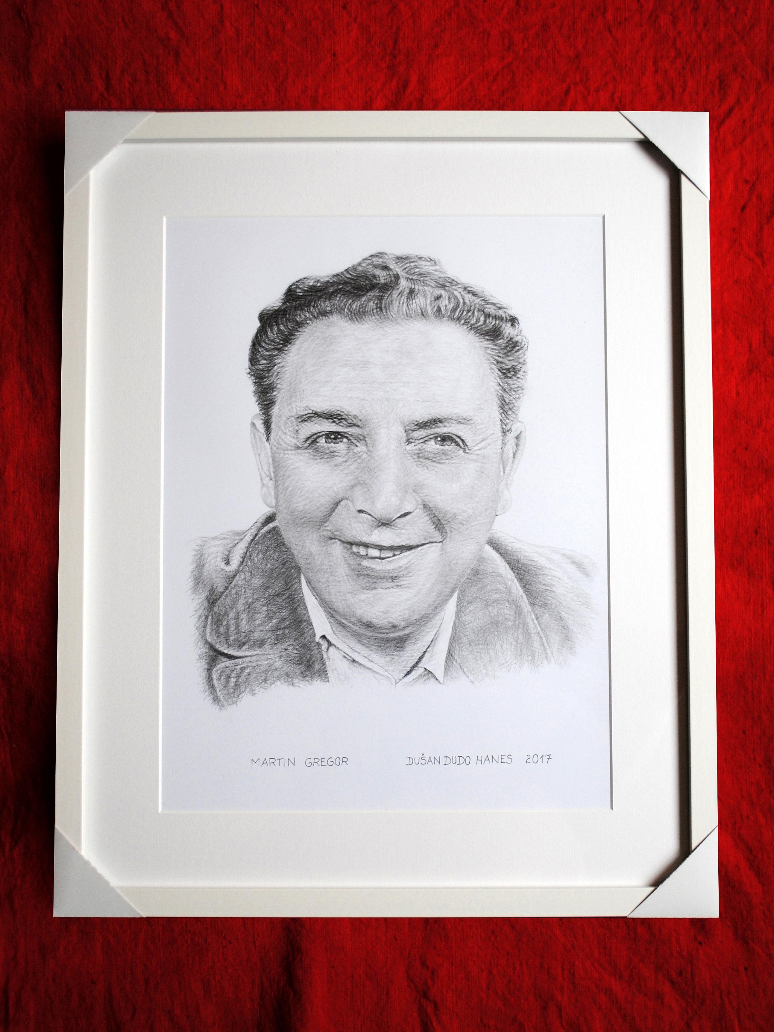 200 - Martin Gregor. Portrét v ráme, Dušan Dudo Hanes
