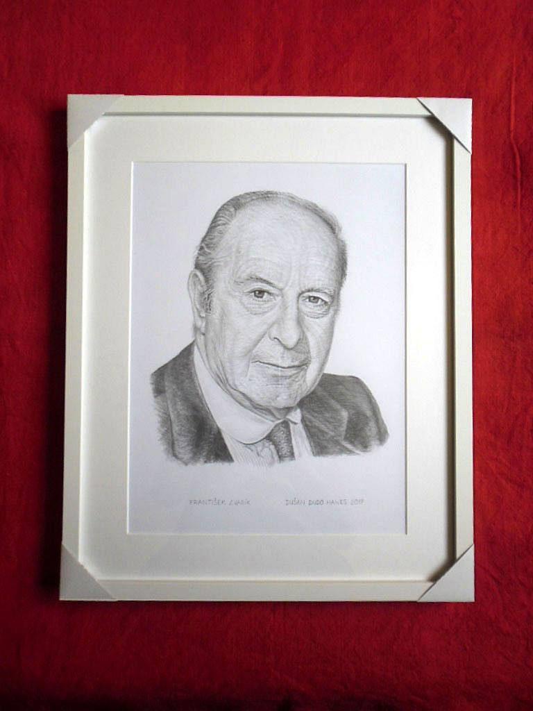 203 - František Zvarík. Portrét v ráme, Dušan Dudo Hanes