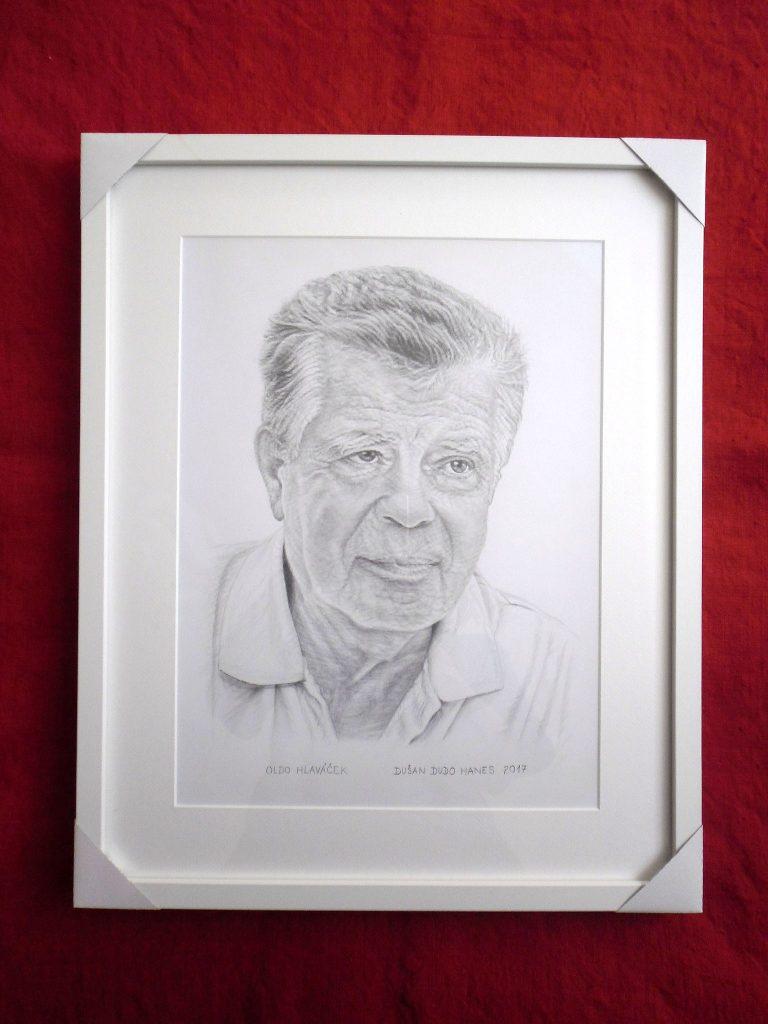205 - Oldo Hlaváček. Portrét v ráme, Dušan Dudo Hanes
