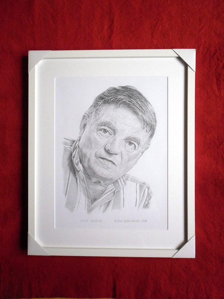207 - Stano Dančiak. Portrét v ráme, Dušan Dudo Hanes