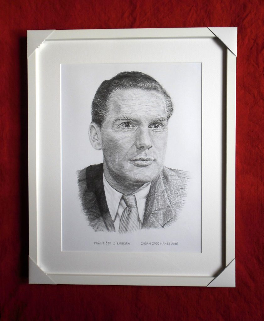 208 - František Dibarbora. Portrét v ráme, Dušan Dudo Hanes
