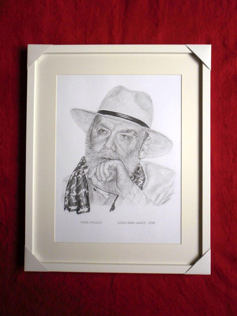 213 - Pavol Mikulík - Portrét v ráme, Dušan Dudo Hanes