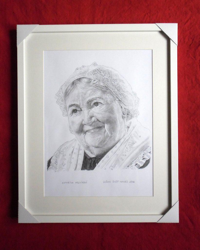 219 - Katarína Kolníková. Portrét v ráme, Dušan Dudo Hanes