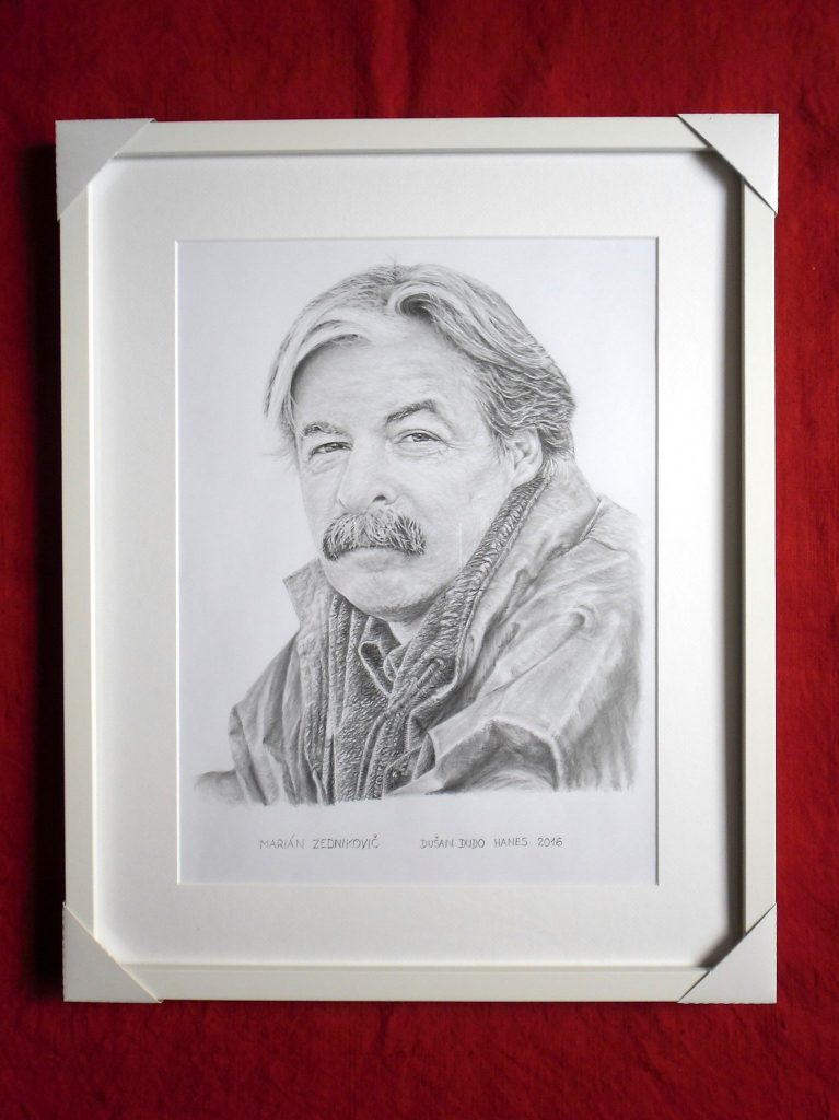 220 - Marián Zednikovič. Portrét v ráme, Dušan Dudo Hanes