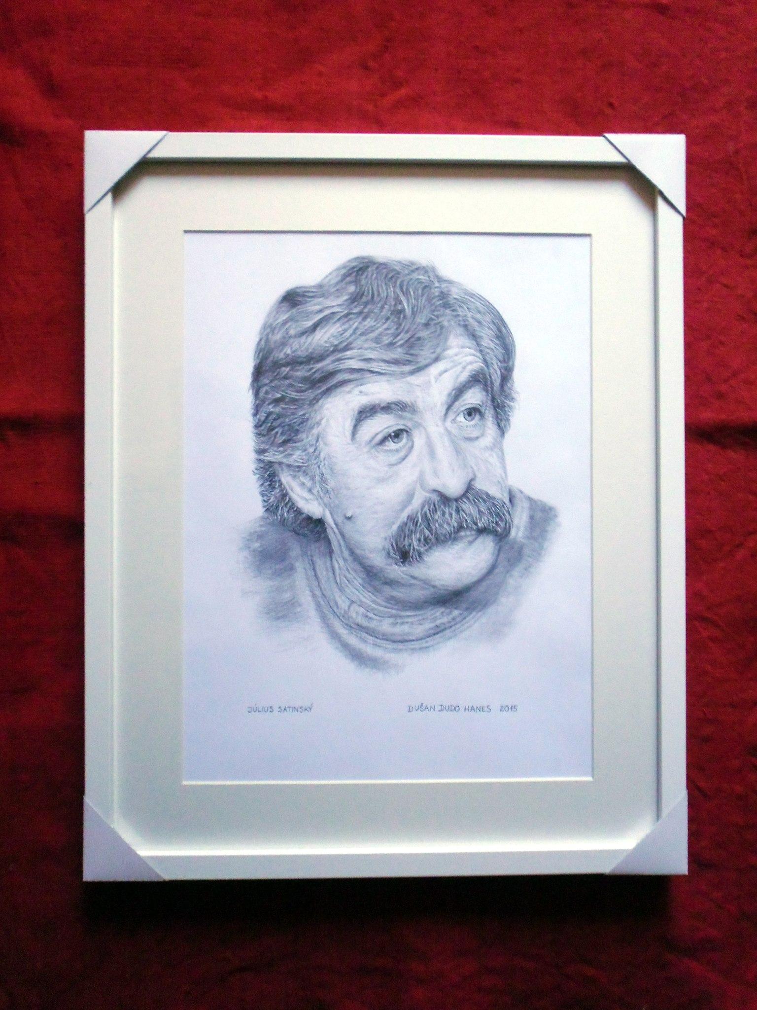 224 - Július Satinský. Portrét v ráme, Dušan Dudo Hanes