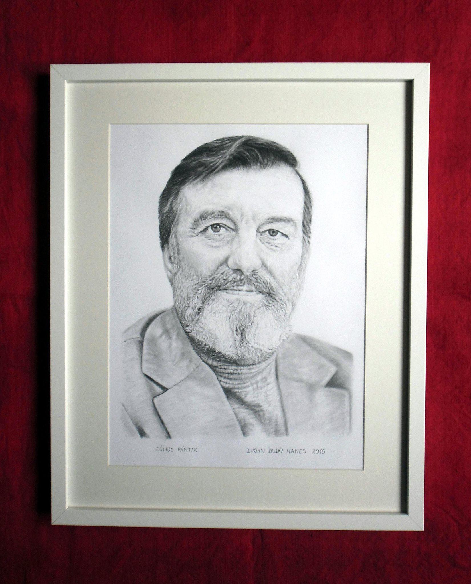 227 - Július Pántik. Portrét v ráme, Dušan Dudo Hanes